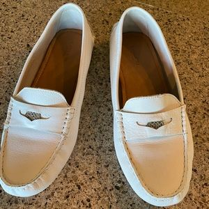 Coach White Loafers